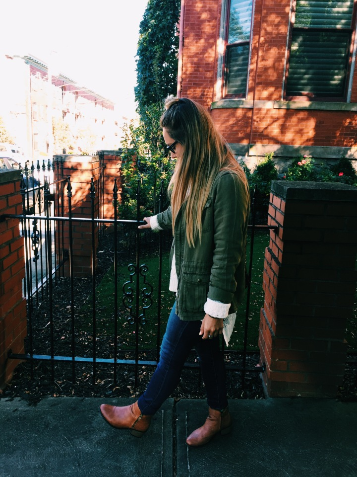 Knitted Creams + Army Greens #OOTD🍂🍃🌻
