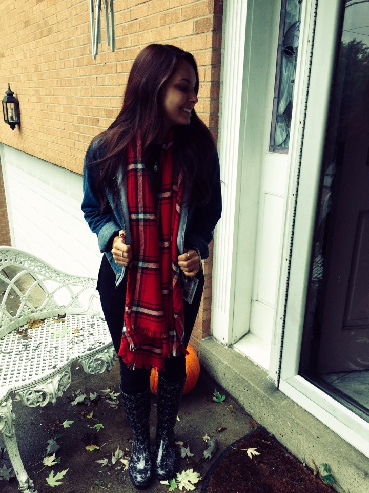 How to: Fall Blanket Scarves +OOTD🍃🍂