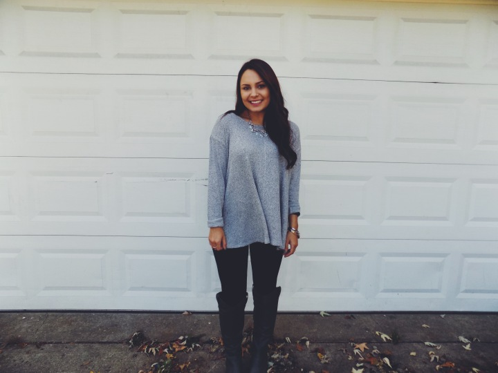 Cozy Grey +Sparkle: Fall #OOTD